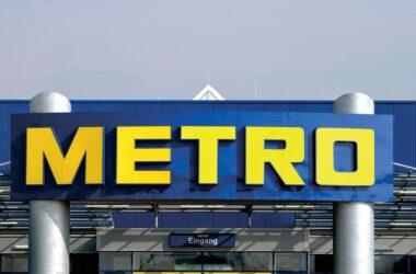 Metro Market Düsseldorf Außenfassade Schild Schriftzug